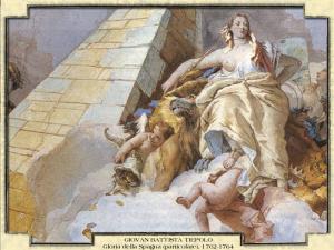 Giovan Battista Tiepolo - Gloria della Spagna (particolare), 1762-1764