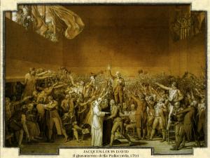 Jacques-Louis David - Il giuramento della Pallacorda, 1791
