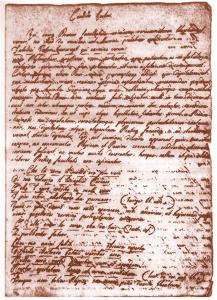 Autografo di Volta: introduzione al poemetto del 1764 sulla polvere pirica, l'oro tonante e i fuochi fatui (Cart. Volt. B. I., Istituto Lombardo)