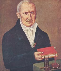 Alessandro Volta, durante la vecchiaia (olio di ignoto; Camnago, Famiglia Volta)