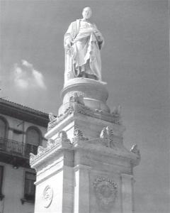 Monumeno a Volta (1838) di Pompeo Marchesi (1789-1858) nell'omonima piazza a Como