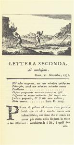 Incipit della Seconda Lettera sull'aria infiammabile delle paludi (Milano 1777)