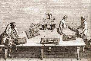 Luigi Galvani, De viribus electricitatis in motu musculari commentarius..., 1792. Esperimenti sulle rane