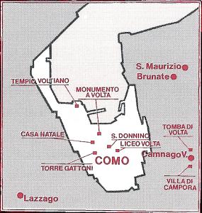 Percorsi voltiani a Como