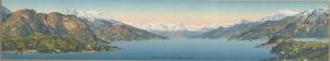 Fotocromolitografia dell'alto Lago di Como (primi del Novecento)