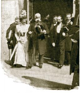 I Reali all'inaugurazione dell'Esposizione Voltiana del 1899 a Como