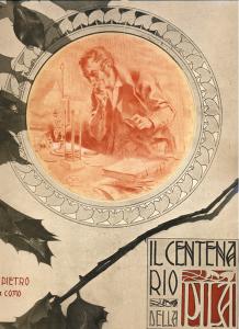 Pubblicazione celebrativa dei Telegrafisti in occasione dell'Esposizione Voltiana del 1899