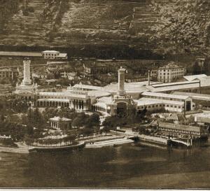 Veduta aerea della prima Esposizione Voltiana del 1899