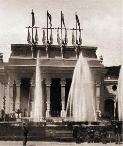 Facciata della seconda Esposizione Voltiana, inaugurata il 18 settembre 1899