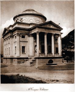 Il Tempio Voltiano (architetto Federico Frigerio): fotografia dell'epoca