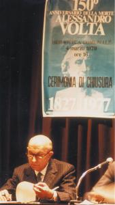 Gianfranco Miglio alla chiusura dell'Anno voltiano 1977
