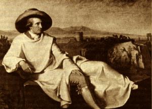 Wolfgang Goethe nella campagna romana (di J.H.W. Tisehbein)