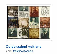 La raccolta di immagini sulle Celebrazioni voltiane