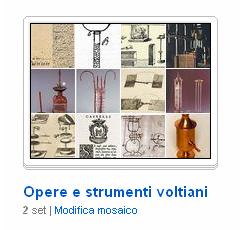 La raccolta di immagini sulle opere e gli strumenti di Volta