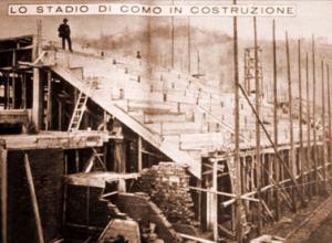 Lo stadio Sinigaglia in costruzione