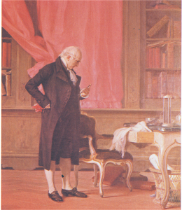 Volta nel suo studio (olio di Nicolò Barabino, 1832-1891, Genova, Palazzo Orsini Spalletti-D'Albertis)