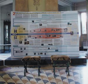 Pannello 2 dell'edizione italiana della Mostra itinerante su Volta