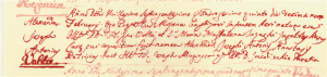 Atto di nascita di Alessandro Volta conservato nella parrocchia di S. Donnino a Como