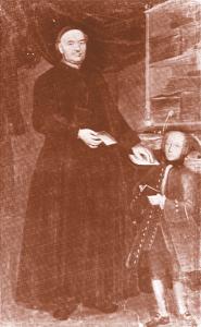 Probabile ritratto del giovane Alessandro Volta con il gesuita Gerolamo Bonesi (olio attribuito a Martin Knoller, 1725-1804).