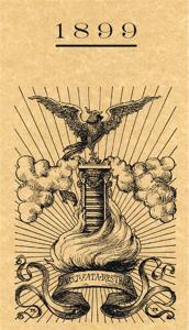 """Copertina del libro """"Como e l'Esposizione Voltiana del 1899"""" (particolare)"""