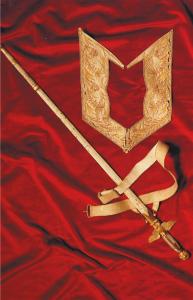 Gilet indossato da Volta in occasione della presentazione della Pila a Napoleone e spada di senatore del Regno d'Italia (Famiglia Volta)