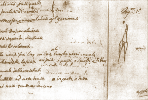 """Descrizione della """"solita maniera"""" con cui Galvani preparava le rane (Autografo di Luigi Galvani)"""