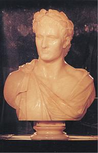"""""""Viaggio immaginario nella mente del genio"""": busto in alabastro di Napoleone (da Villa Carlotta, Tremezzo)"""