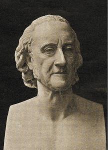 Il busto di Volta del Comolli nelle sue numerose versioni conosciute: derivazione di Cesare Berra (1874), Istituto Lombardo