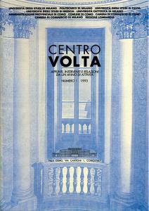 """Copertina del numero speciale (1993) del Rapporto del Centro di Cultura Scientifica """"A. Volta"""" con il saggio di Lucio Fregonese su Volta e Boscovich"""