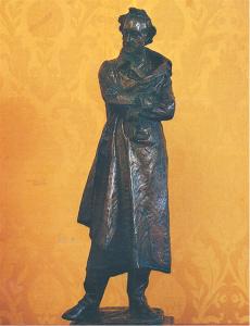 Statua in bronzo di Giuseppe Grandi (1843-1894) raffigurante Alessandro Volta (Centro Volta)
