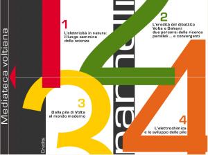 """La schermata principale di """"Mediateca Voltiana"""", la trasposizione su web della mostra """"L'elettricità e l'avvento del mondo moderno"""""""