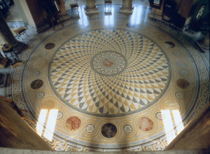 Tempio Voltiano: il pavimento