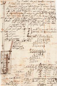 Minuta degli appunti sulle tensioni di vapori saturi alle diverse temperature (Autografo di Volta, Cart. volt. H33_, Istituto Lombardo)