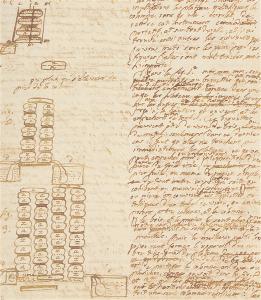 Minuta della lettera di Volta a Joseph Banks (Istituto Lombardo)